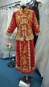 Silver - wedding gown 1405KW02 Kwa L