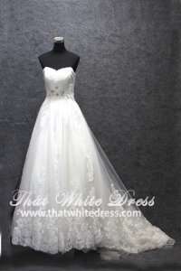 Silver - wedding gown 1405WL004 CS Princess Enzoani Plus Size