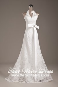 silver-wedding-gown-1305w001-halter-lace-aline