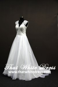 silver-wedding-gown-1305w008-aline-vneck-lace