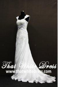 silver-wedding-gown-1305w009-aline-white-sleeves