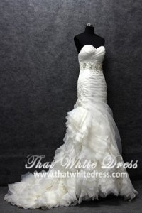 silver-wedding-gown-1401w05-trumpet-vera-wang-pleated-layered-rose-ruffles-heart-shape-tube