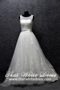 silver-wedding-gown-1401w17-a-line-illusioned-neckline