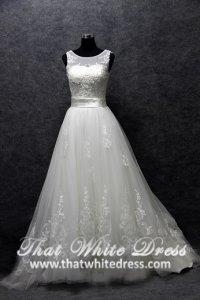 silver-wedding-gown-1401w17-a-line-illusioned-neckline